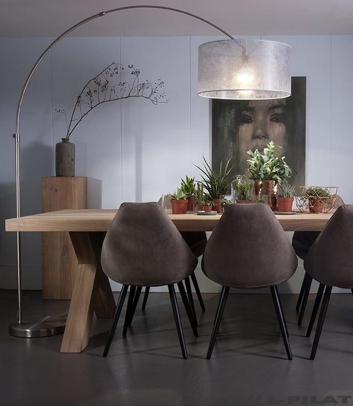 Grote booglamp bolivia voor boven de tafel woonwinkel for Grote hanglamp eettafel