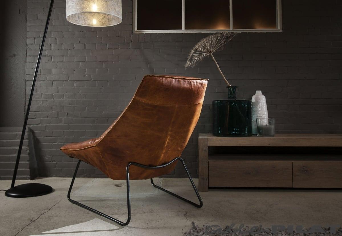 Cognac Leren Stoel : Leren fauteuil beal: jess design ruw ruig natuurlijk en stoer