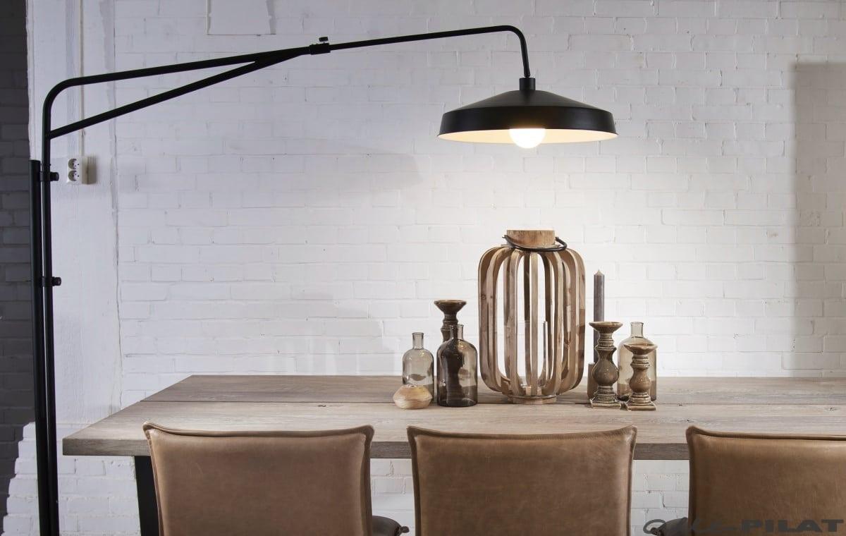 Verrassend Vloerlamp Brighton | Stoere zwarte booglamp - Woonwinkel Alle Pilat OD-72