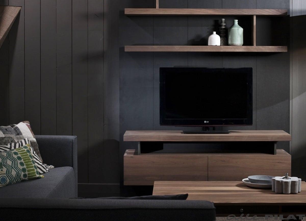 Wand En Tv Meubel.Noten Tv Meubel Voor Aan De Wand Muur Woonwinkel Alle Pilat