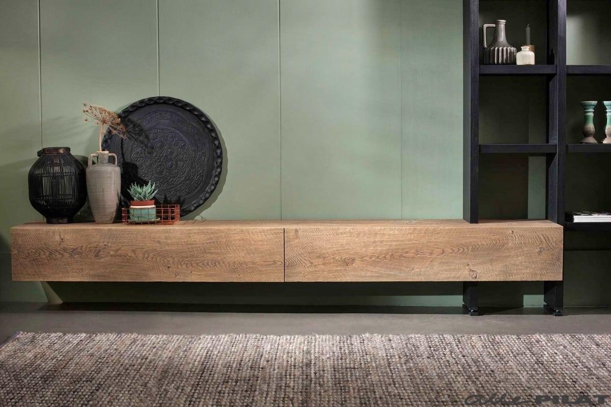 Zwevende Tv Meubel : Hangend eiken tv meubel op en del woonwinkel alle pilat