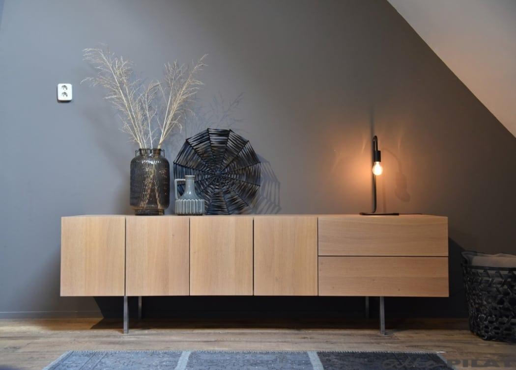 Eiken tv-meubel Zweef