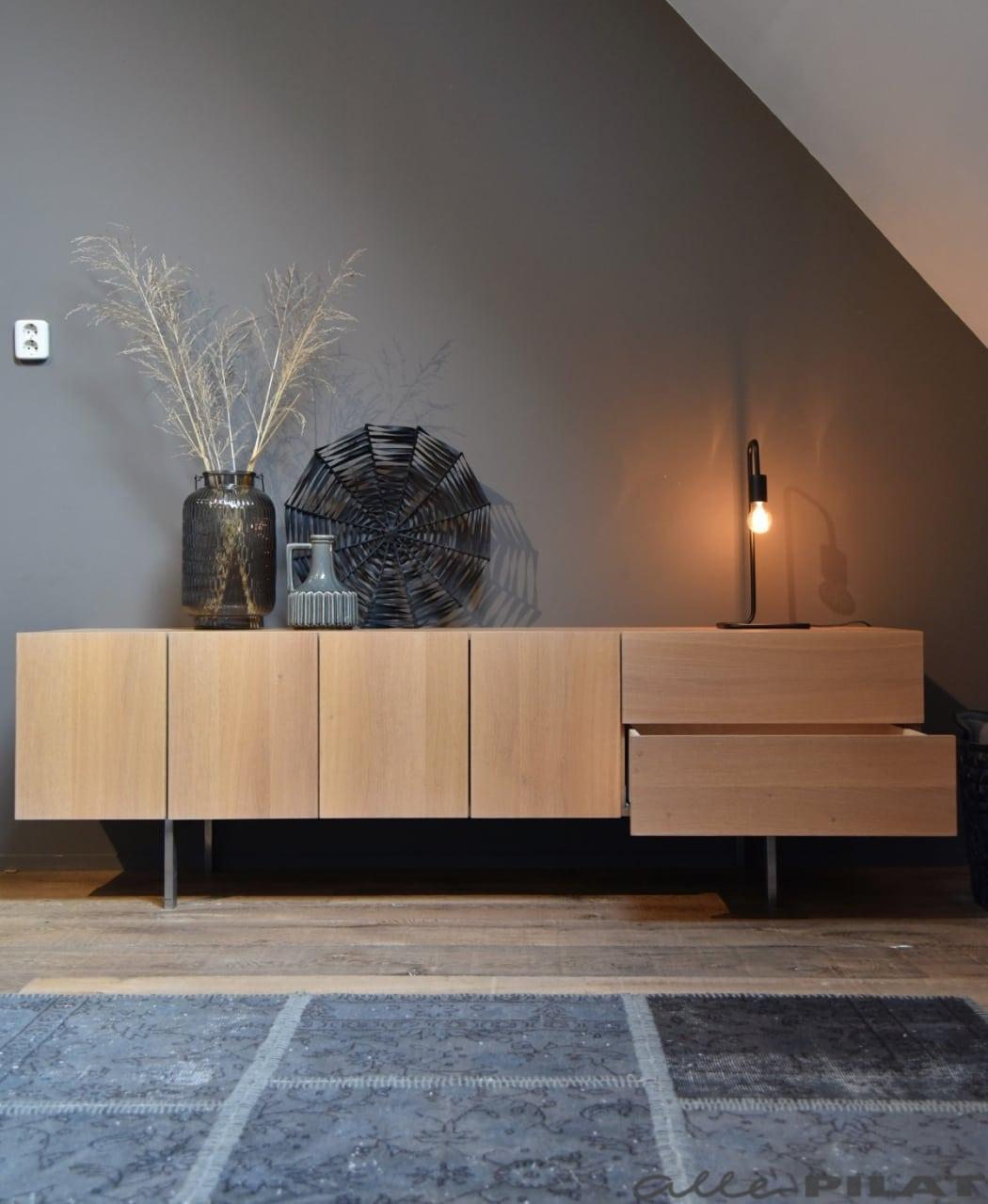 Foto Eiken tv-meubel Zweef