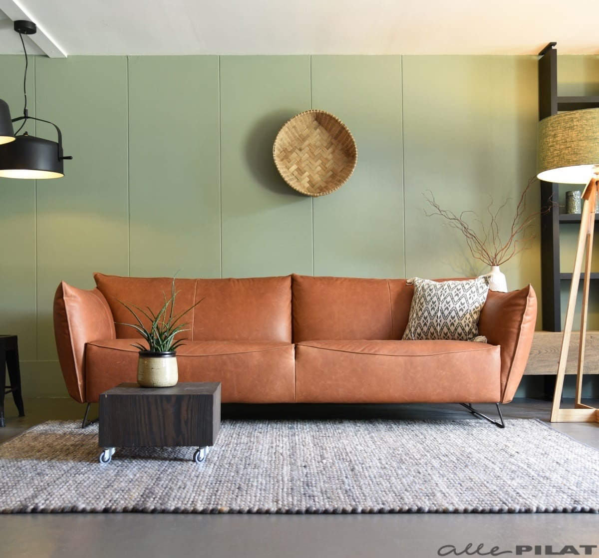 Zwart Leren Bankstel Design.Jess Design Alle Pilat