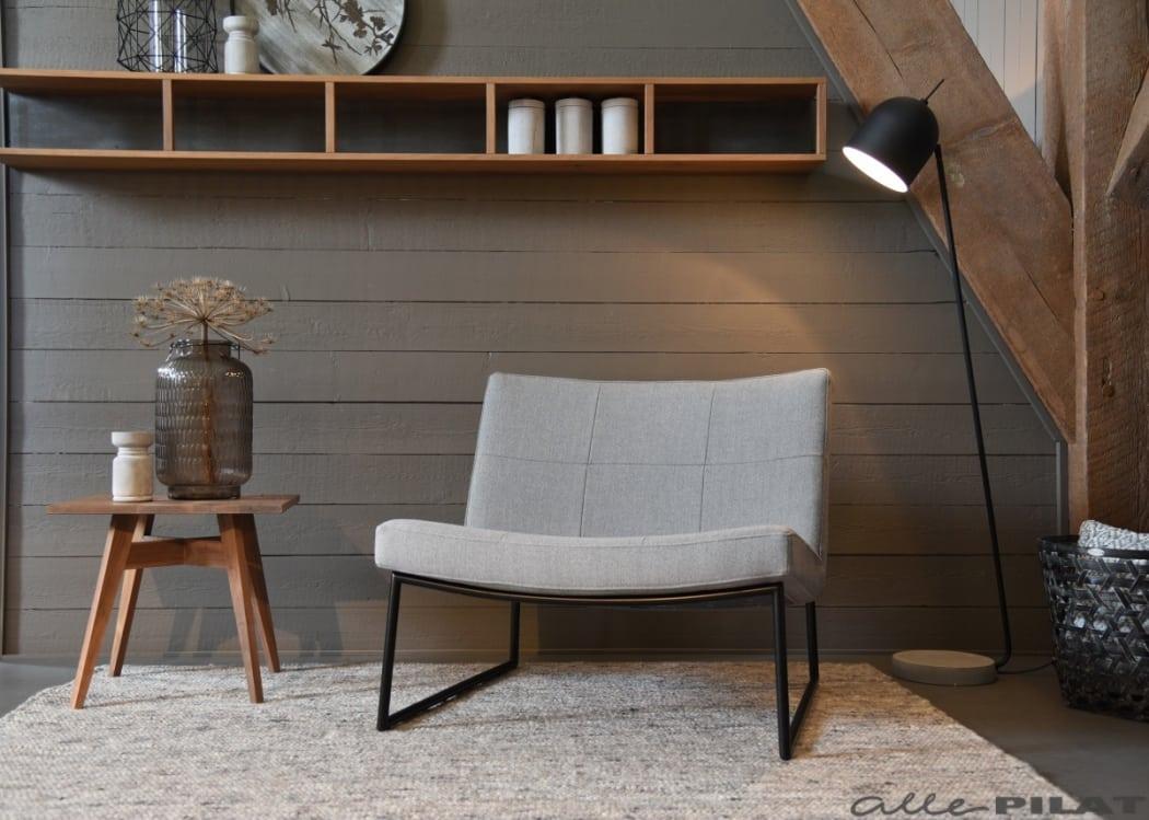 Strakke fauteuil Hidde