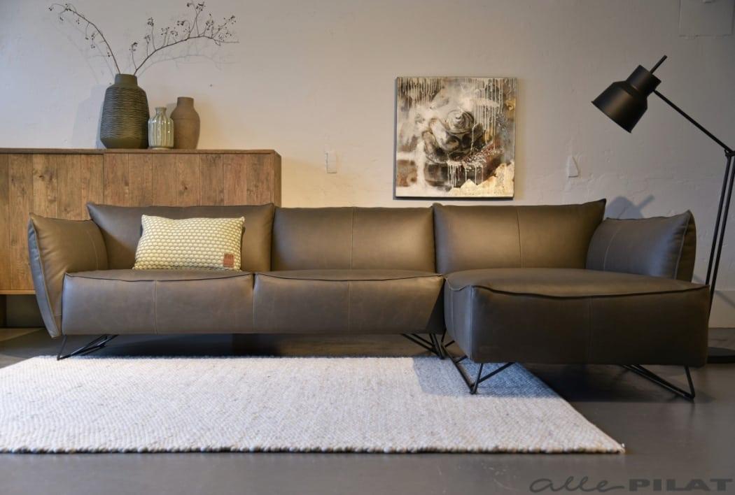 Hoekbank Design Leer.Hoekbank My Home Jess Design In Stoer Leer Woonwinkel Alle Pilat