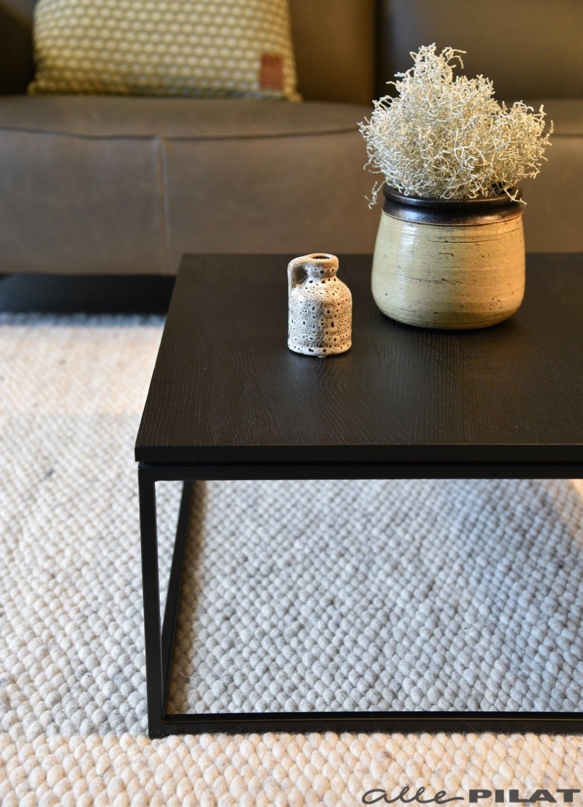 Vierkante Zwarte Salontafel.Zwarte Vierkante Salontafel Black Van Eikenhout Woonwinkel