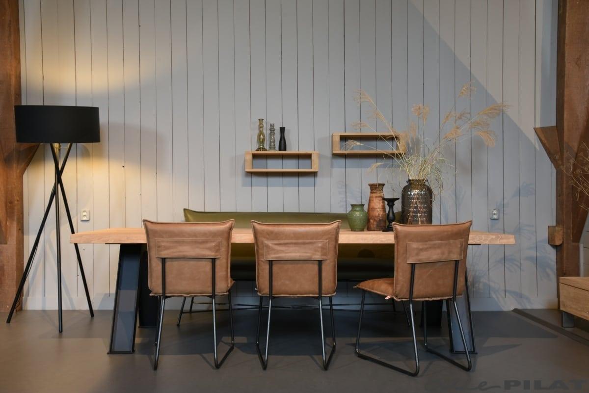 Stoer Industriele Eetkamerstoelen : Leren eetkamerstoel duke karakteristiek en stoer woonwinkel alle pilat