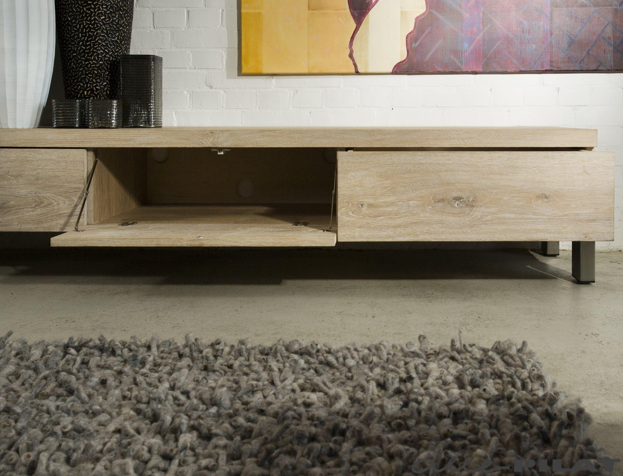 Eiken Tv Kast : Strak en stoer eiken tv meubel bruut woonwinkel alle pilat