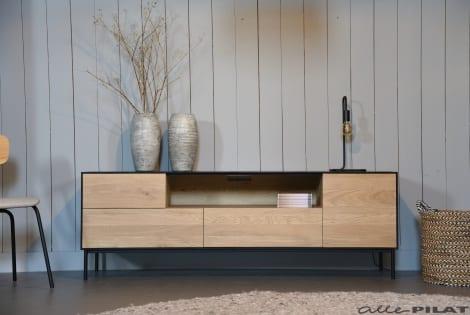 combineren met Eiken tv-meubel Swart