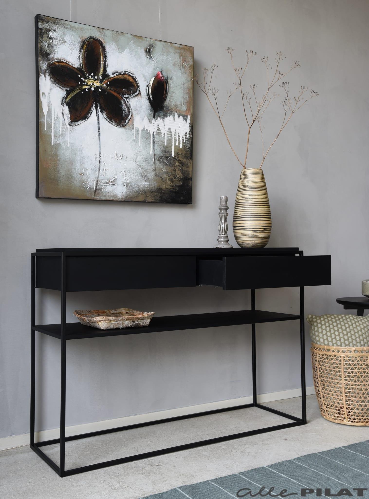 Zwarte Sidetable Met Lade.Zwarte Side Table Black Van Eikenhout Woonwinkel Alle Pilat