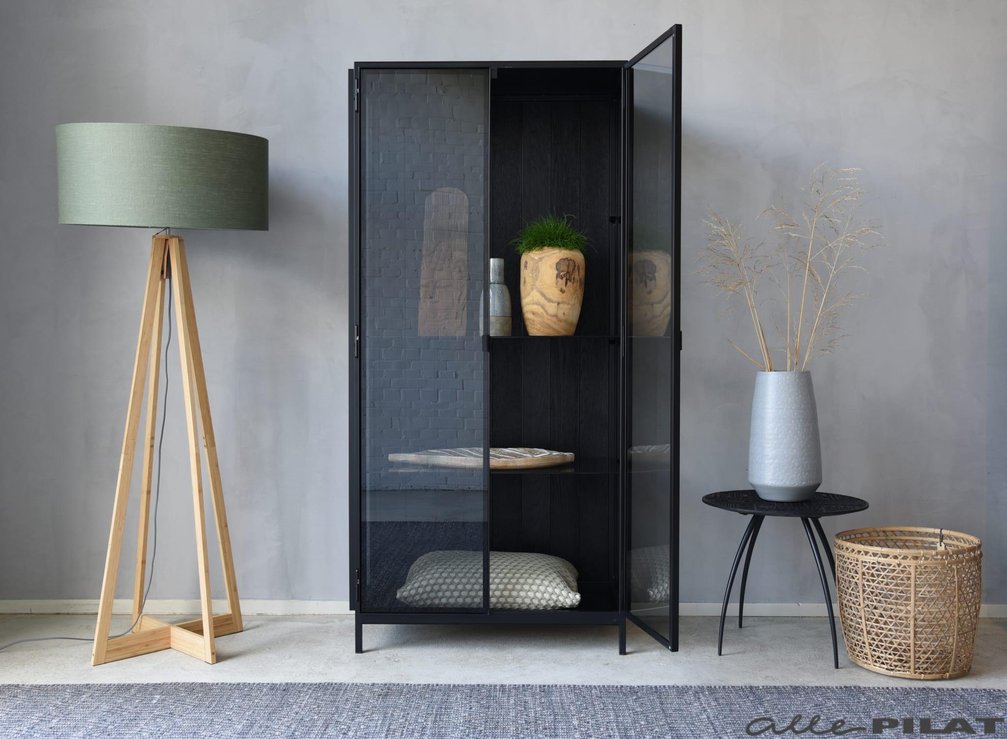 Kast Voor Glazen : Zwarte glazen vitrine kast anders woonwinkel alle pilat