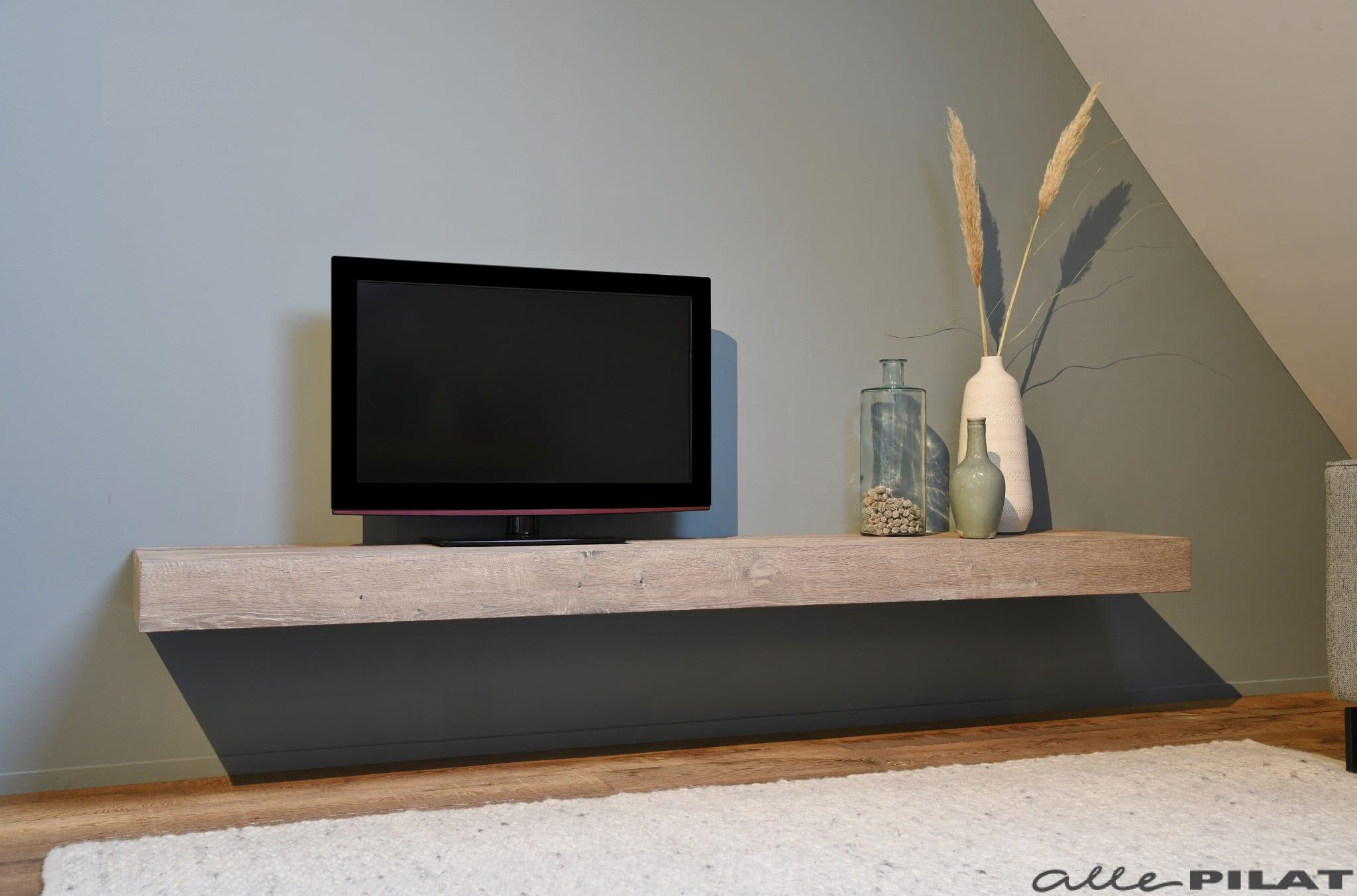 Tv Meubel Plank.Tv Meubel Plank Hangend Wandmeubel Eikenhout Woonwinkel Alle Pilat
