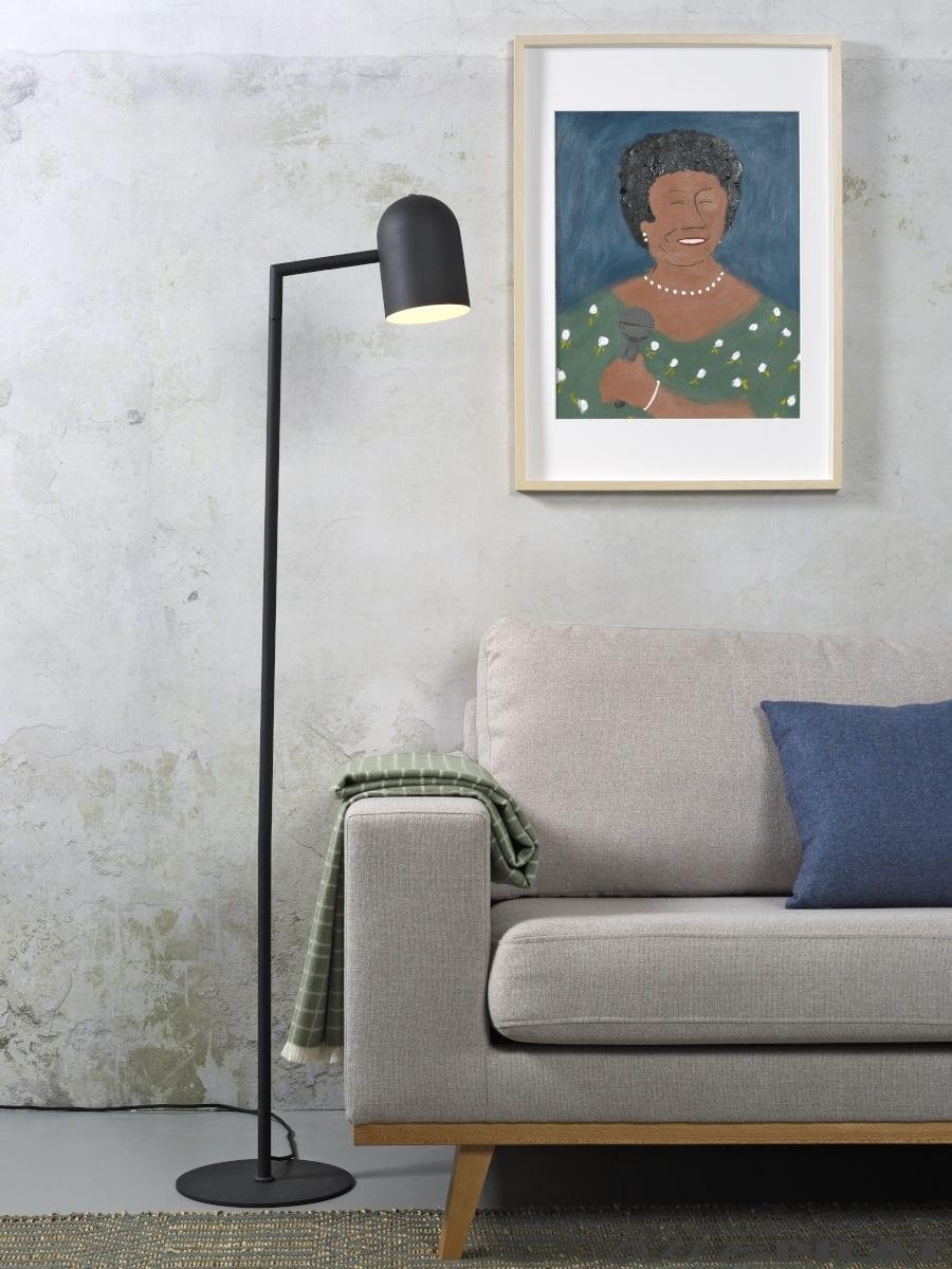 Foto Vloerlamp Marseille zwart