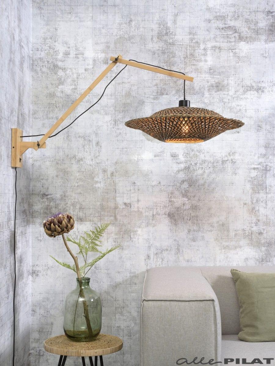 Wandlamp Bali met naturel frame
